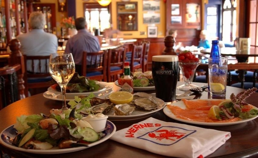 Aherne 39 s seafood bar townhouse hotel a boutique for Bar food youghal